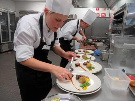 Competing Chefs George Jefferies and Teri Jorgensen
