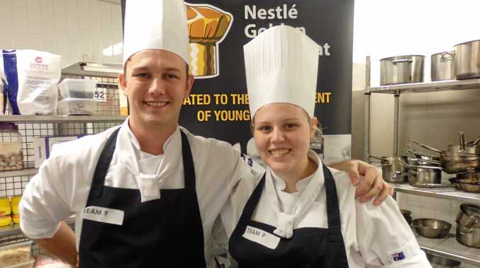 TOP CHEFS: Competing chefs George Jefferies and Teri Jorgensen.