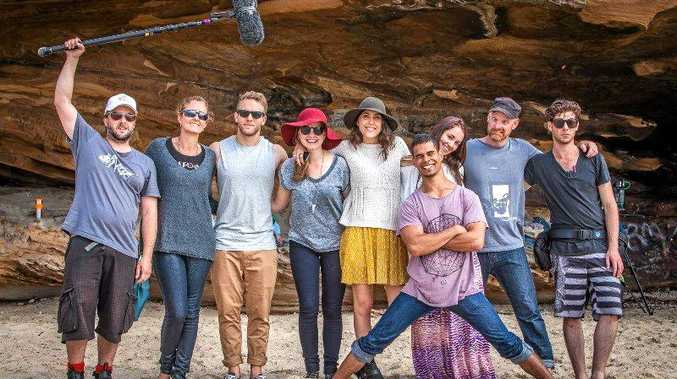 RISING STAR: Coffs actor Josh Morton and other cast and crew members from the Australian short film Wurinyan, which was featured at the Festival de Cannes last month.