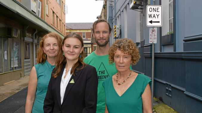 MAKING INROADS: Greens candidate for Page Kudra Falla-Ricketts (centre left) intends to spend more time in the southern end of the electorate on the Coffs Coast in the lead-up to the election.