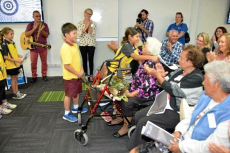 The crowd who turned out for the launch of The Family Centre's reconciliation action plan.