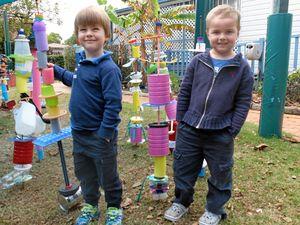 Toowoomba kids create unique sculptures at kindergarten