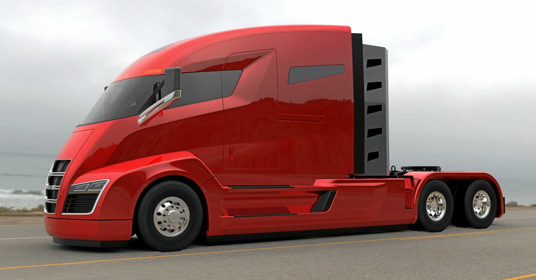 NIKOLA ONE: The futuristic electric truck offers 2,000 instant horsepower on tap and beastly 6X6 grip.