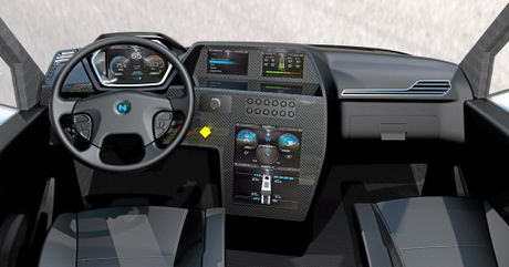The Nikola One is paraded as being 10-15 years ahead of the competition, and the cabin is an example of the high-tech approach taken.
