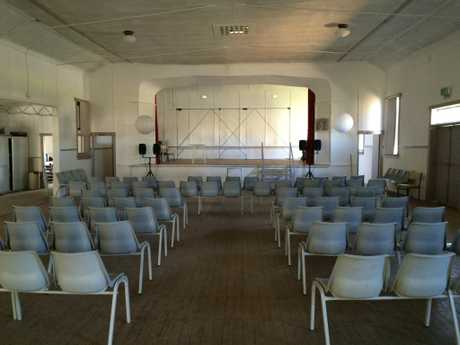 Inside Caragabal Memorial Hall