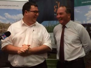 Cocaine jokes and funding vows: Barnaby Joyce hits town