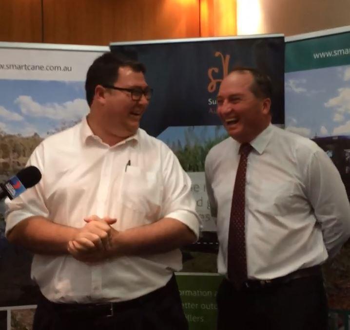 Barnaby Joyce and George Christensen.