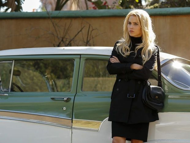 Claire Holt in a scene from season two of the TV series Aquarius.