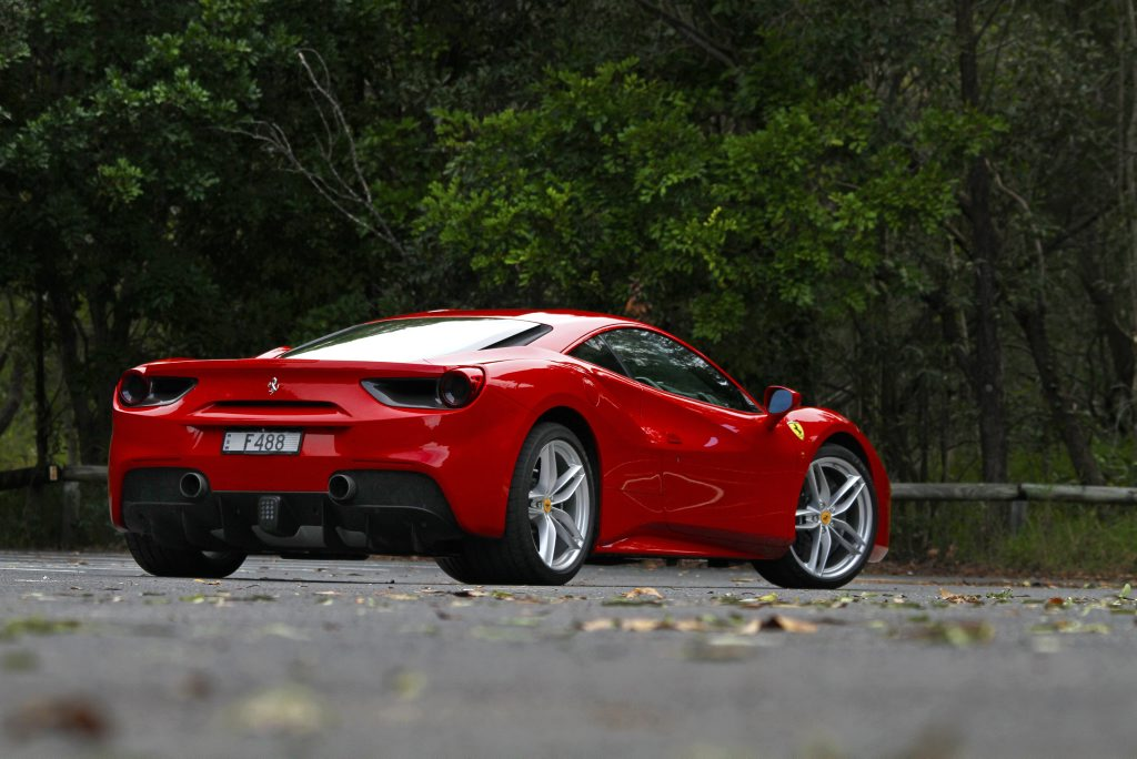 2016 Ferrari 488 GTB. Photo: Iain Curry