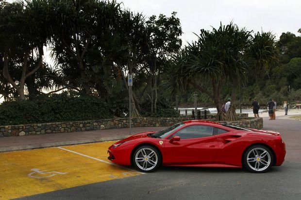 2016 Ferrari 488 GTB. Photo: Iain Curry