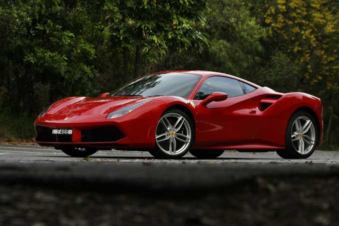 EXPENSIVE TASTES: Despite all Ferraris costing over $400,000 here (like the $470,000 Ferrari 488 GTB above), Australians bought a Prancing Horse-badged beauty every other day in 2016.