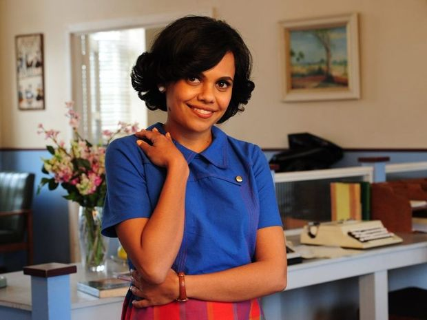 Miranda Tapsell in a scene from season three of the TV series Love Child.