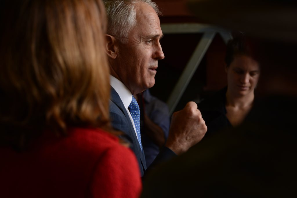 Malcolm Turnbull during the campaign trail.