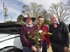 Launch of the annual Camellia Show. Toowoomba Camellia Show and Garden Expo Committee members Rusell Campbell, Mike Wells and Toowoomba Hospice chairman Graham Barron OAM . June 17, 2016