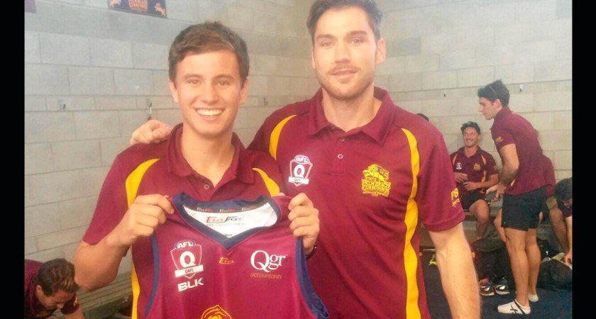 NEXT STEP: Damian Ashby receives his senior shirt.