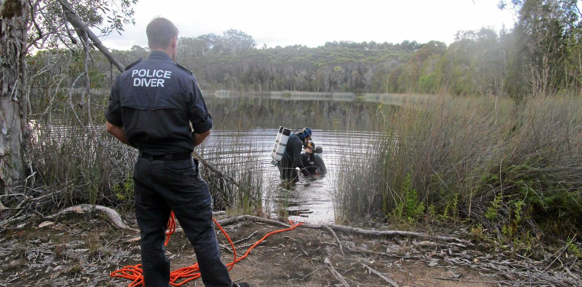 HUNT: Police have searched a dam west of Lawrence as part of the investigation into the disappearance and suspected murder of Grafton teacher Sharon Edwards.