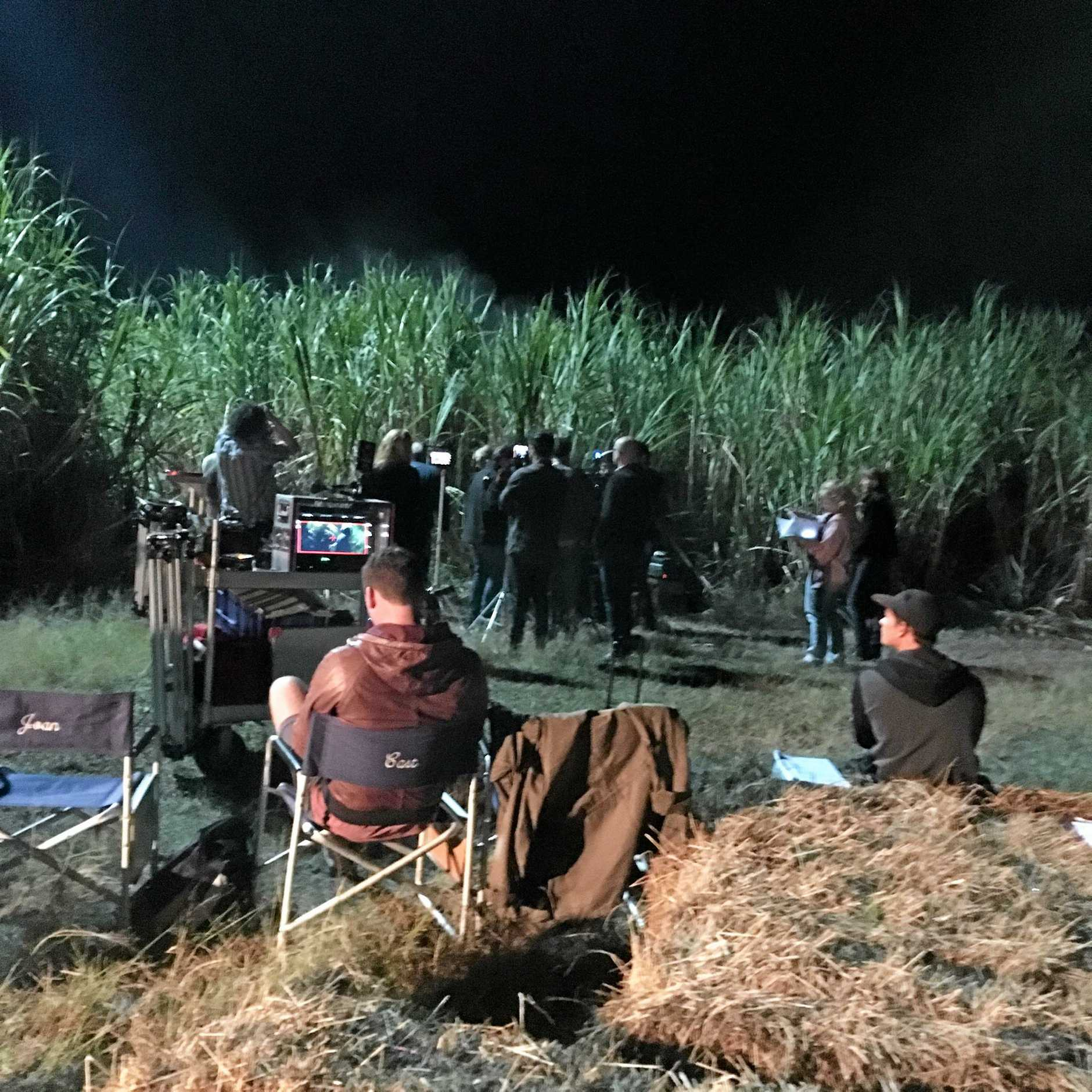 NOW FILMING: Images taken from an outdoor set near Ross Lane, Lennox Head during the five-week shoot of Scarlett, a locally made $2.7 million budget supernatural thriller.