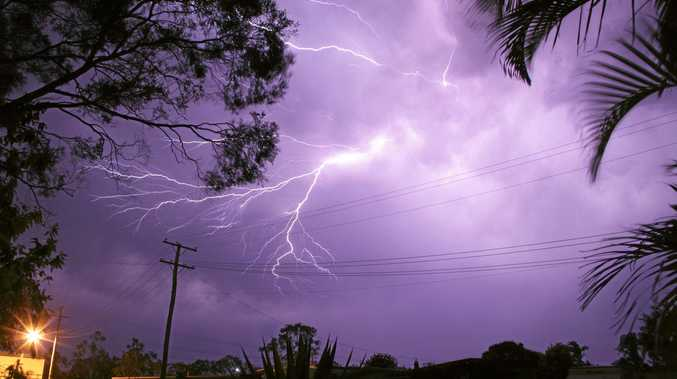 Storms are expected to hit the Wide Bay and Burnett districts the hardest today, the Bureau of Meteorology says.