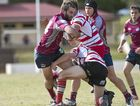 Toowoomba Bears' winger Sam Hagley takes on the Toowoomba Rangers defence during their round 10 Risdon Cup match at Heritage Oval last Saturday.