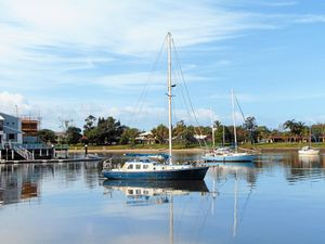 Mystery yacht awaits collection at Mooloolaba