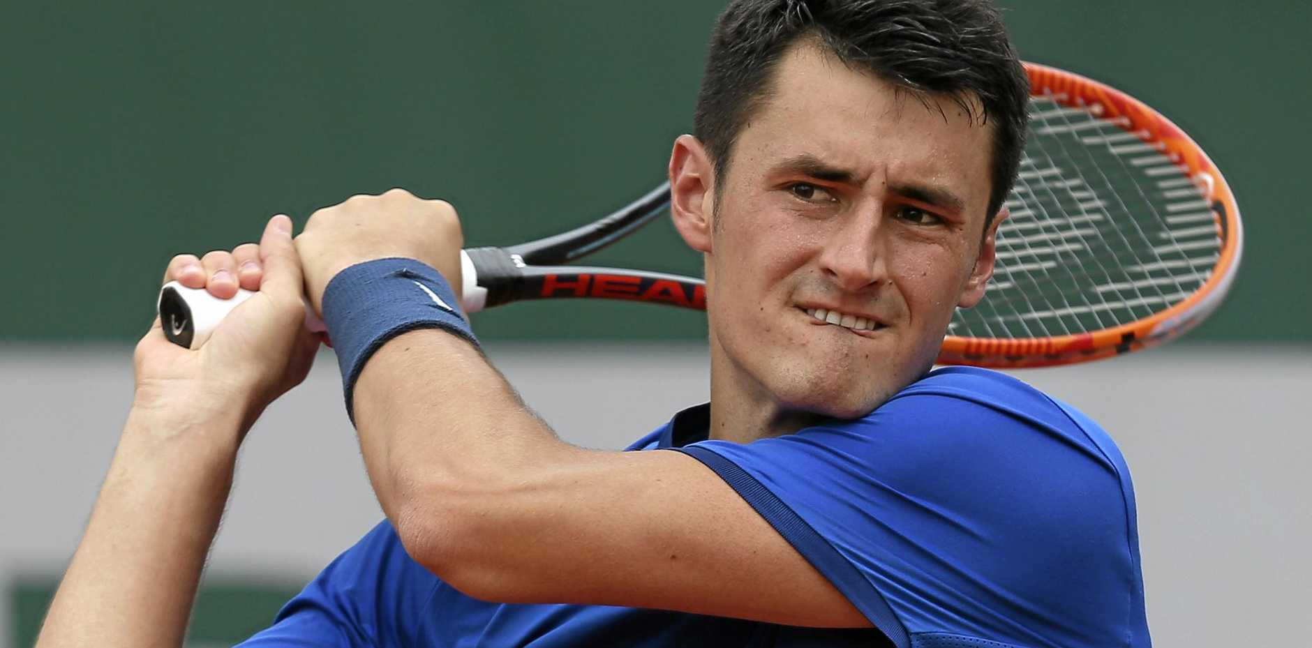 "HITTING BACK: Bernard Tomic has returned serve over claims he and fellow Aussie Nick Kyrgios have ""tanked"" matches."