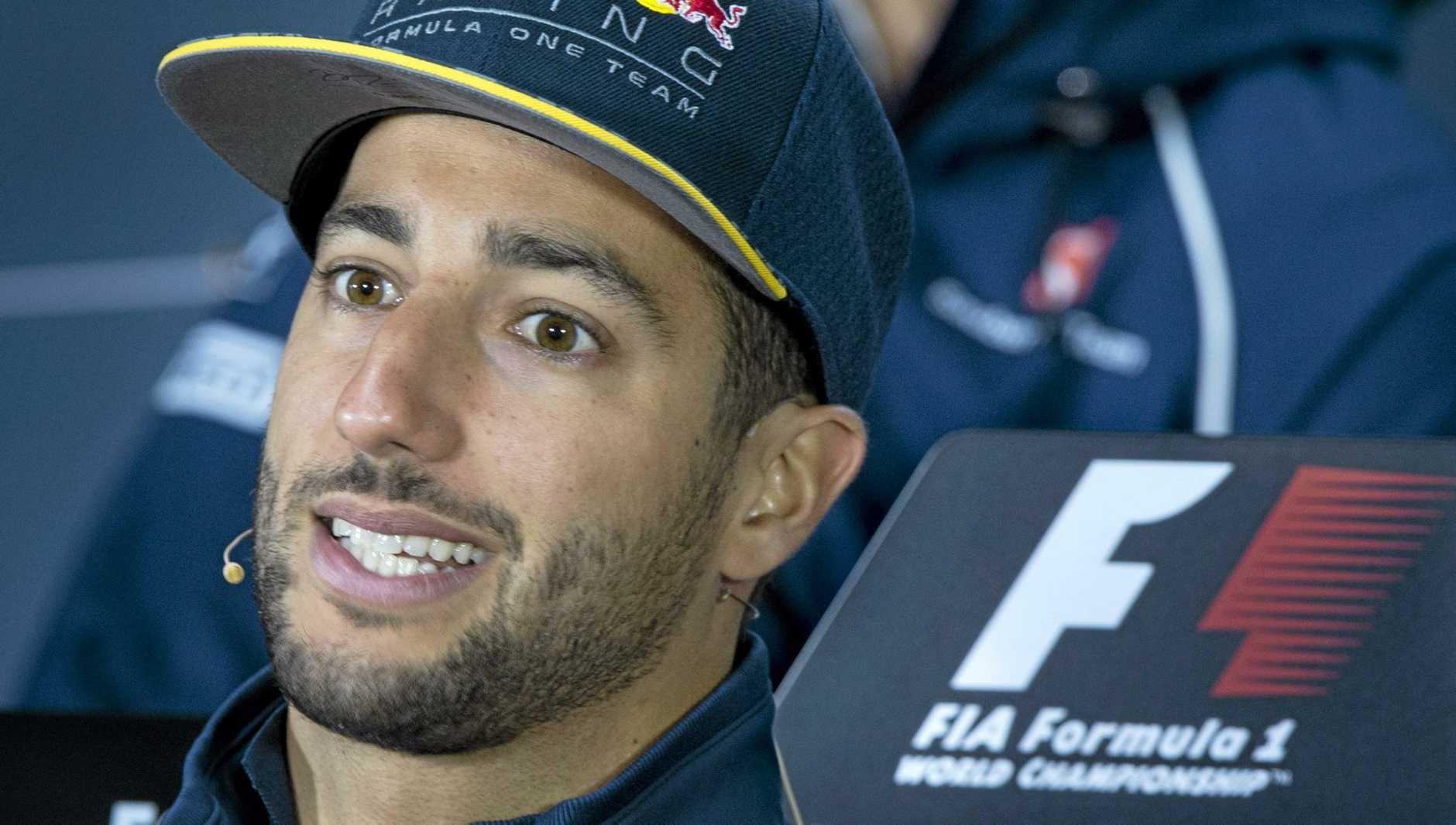 CONTRACT TALKS: Red Bull Racing driver Daniel Ricciardo, of Australia.