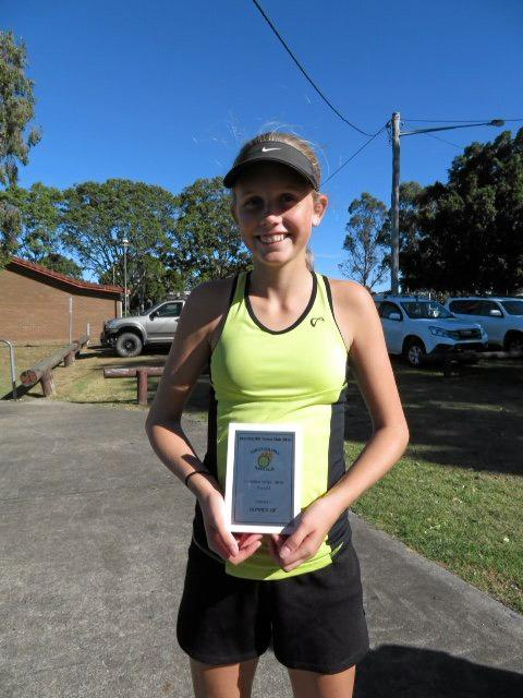 Division 1 runner up Olivia Blanch with her trophy.
