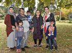 PEACE welcome to refugee picnic at Laurel Bank Park. Afghanistan family Saliha and husband Muhammad who is holding Adil, on the left is Fariashta, mum Waziara Sharif, Shaima Sattar and little boy Hada.