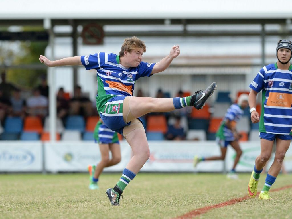 Capricorn Coast Brothers player Jakob Thorn in the U16 Rugby League Grand Final between Capricorn Coast Brothers and Rockhampton Brothers at Browne Park. Photo: Chris Ison / The Morning Bulletin
