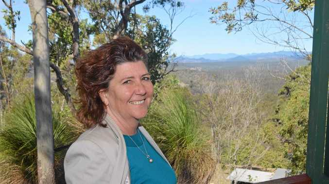 LOCAL LOVE: Cr Kathy McLean looks ahead to improving planning of the Lockyer Valley. She is pictured here, at Cunningham's Crest Lookout, Laidley.