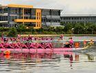 Teams paddled to win at the Dragons Abreast National regatta at Lake Kawana.