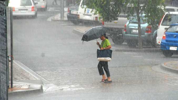 The Bureau of Meteorology said the Sunshine Coast could expect 30–80mm on Sunday