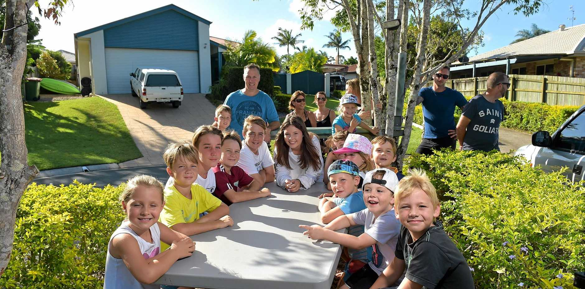 Residents of Chablis Court, Buderim, want to keep their picnic table at the end of their street despite an order from Council to remove it.Photo: Warren Lynam / Sunshine Coast Daily