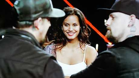 Aaliyah Warren pictured during a mentoring session with the Madden brothers.