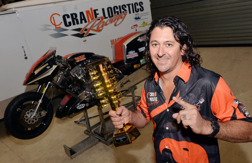 Damian Muscat and his motorcyclePhoto Tony Martin / Daily Mercury