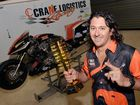 Damian Muscat and his motorcyclePhoto Tony Martin / Daily Mercury