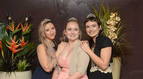 2016 Jacaranda Queen candidates (from left) Shannon Carter, Heidi Madsen and Sharnie Wren are at the annual Jacaranda meet and greet at the GDSC on Sunday,19th June, 2016.