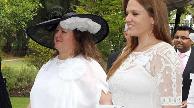 WEDDING BELLS: Mining entrepreneur, Gina Rinehart (left) and her youngest daughter, Ginia who is set to be married at qualia resort on Hamilton Island sometime this week. Image: (AAP Image/Lincoln Baker) Photo contributed