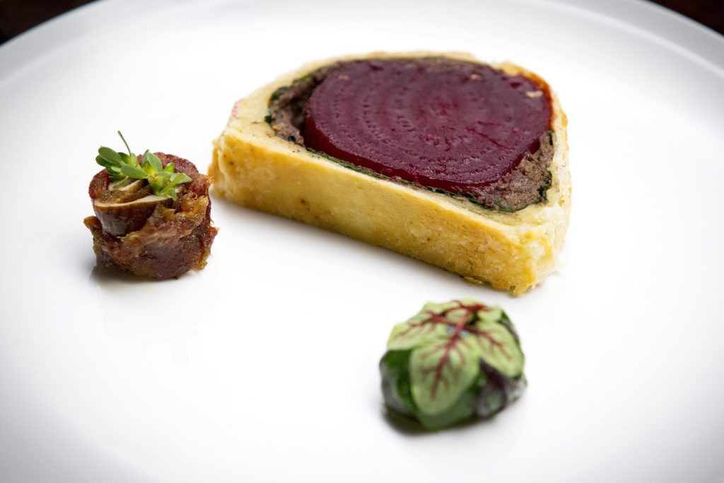 American teen chef Flynn McGarry's deceptively simple looking beet wellington as featured on MasterChef.