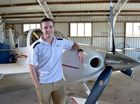 Young pilot Lachlan Smart has his bags packed for his round the world flight.
