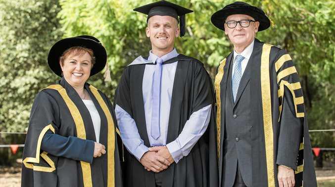 MASTER: USQ graduate Josh Neuman has completed his Master of Education.