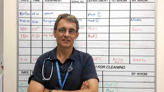 Dr Mike Lindley-Jones, director of the Intensive Care Unit at The Tweed Hospital. Photo: Alina Rylko / Tweed Daily News