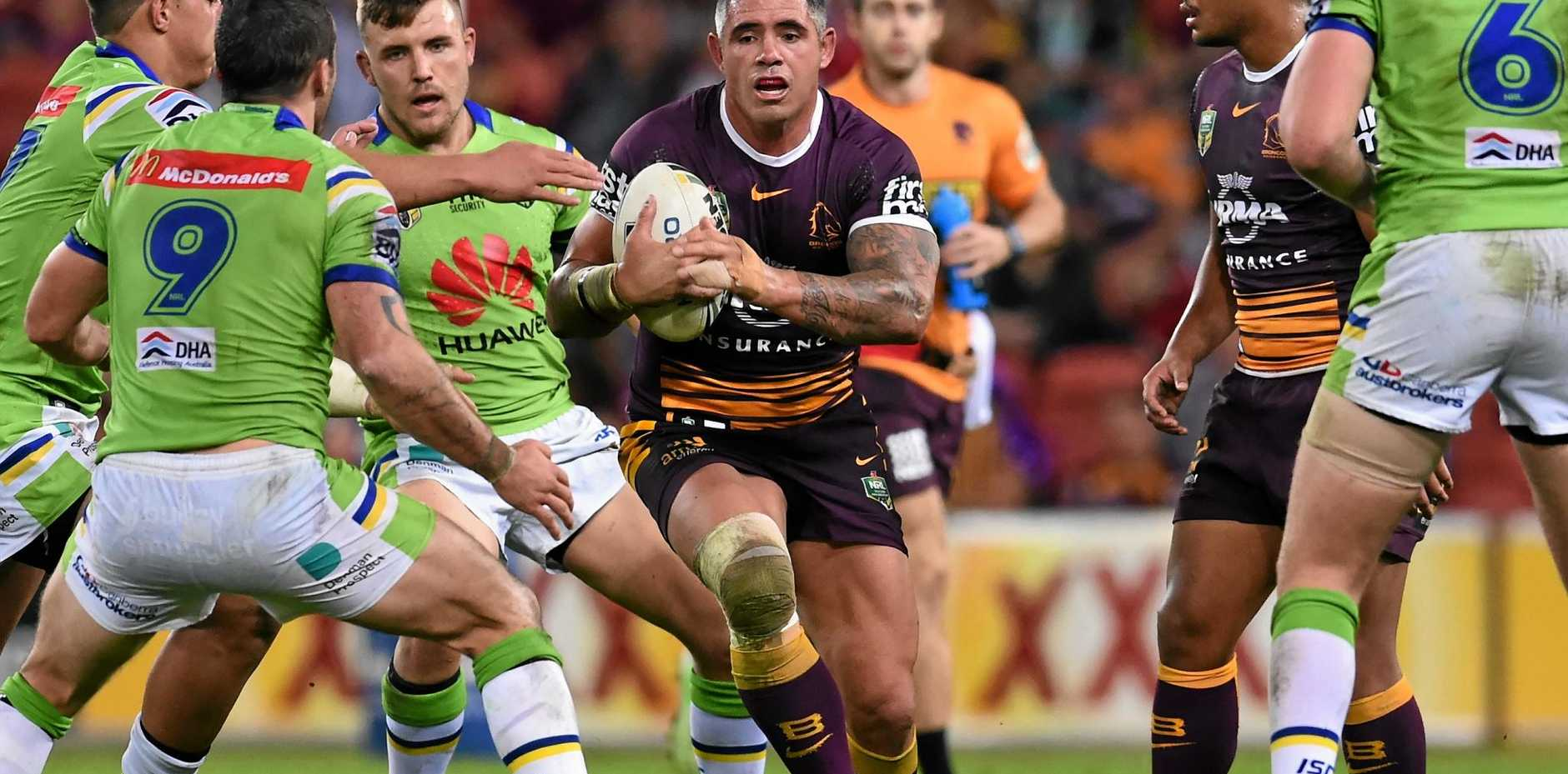 BOWING OUT: Corey Parker of the Brisbane Broncos during the Round 14 NRL game against the Canberra Raiders at Suncorp Stadium.