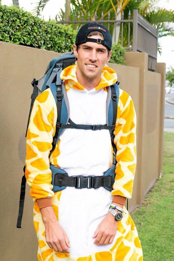 ONESIE: Nathan Taiaroa prepares to climb Kilimanjaro
