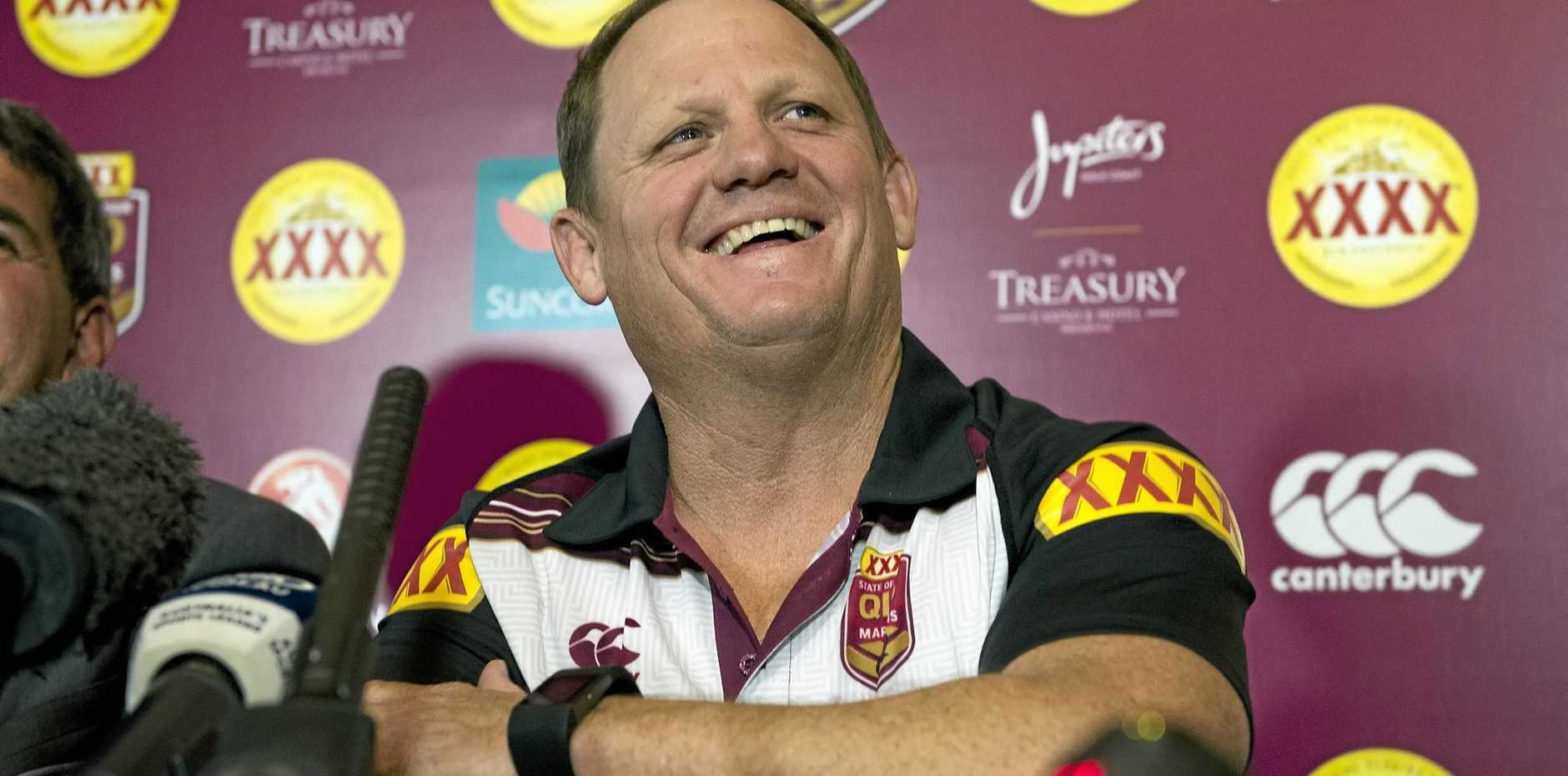 SECOND TEST: Queensland coach Kevin Walters is still smiling despite the heavy burden of taking over one of rugby league's hardest jobs from Mal Meninga this year.