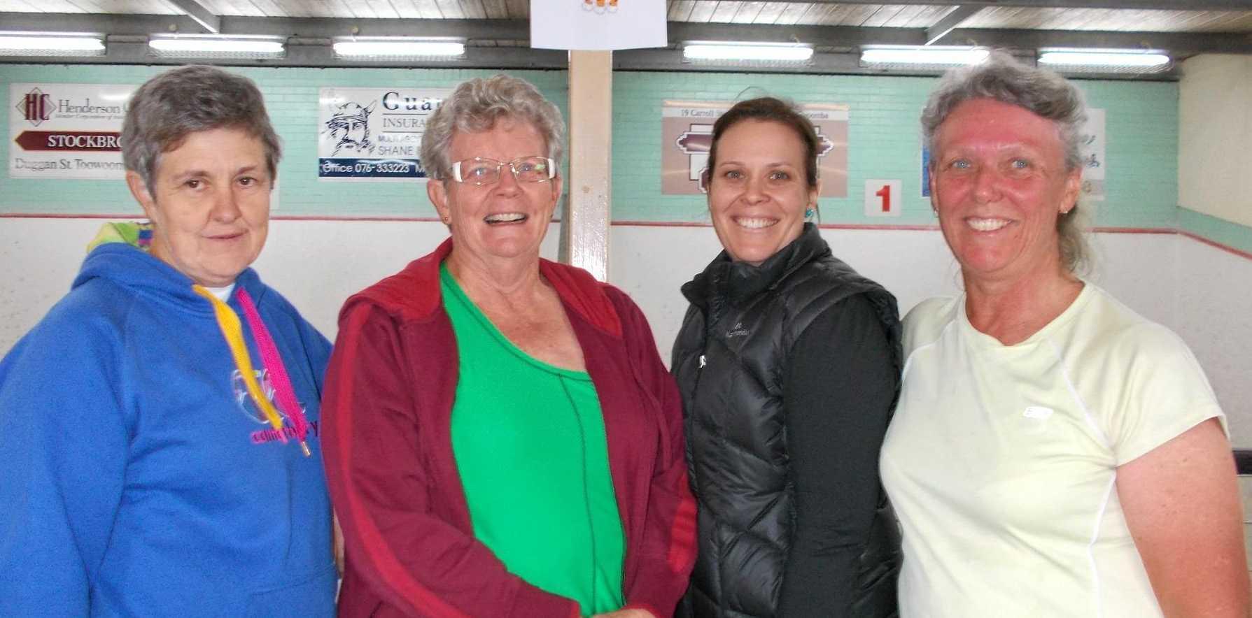 SUCCESS: Toowoomba Daytime squad winners (from left) Cathy Wells, Jocelyn Loch, Mikala Matthews and Trish Davis.