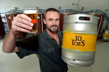 Rupert Hall has opened his own brewery in Maroochydore called 10 Toes.