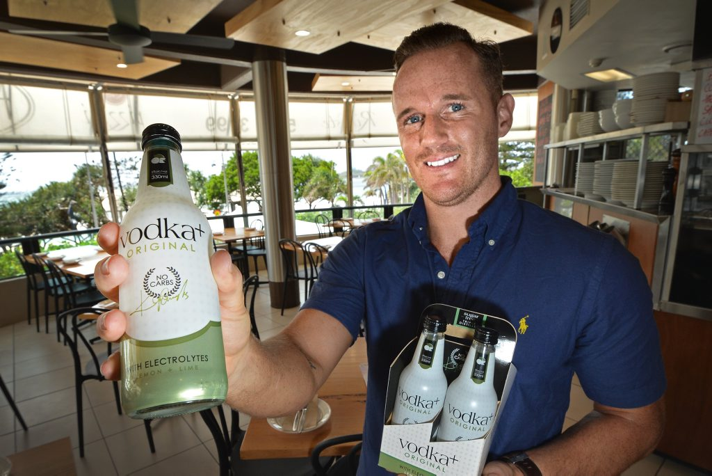 Minyama resident Shane Nettleton has launched Vodka Plus a new alcoholic drink for fitness junkies-no carb, no sugar vodka lime soda in a 300ml bottle.
