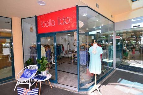 Fashion designer Claire Lonergan in her Mooloolaba shop Bella Lido.