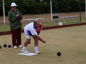 Bowlers battle rain for good day